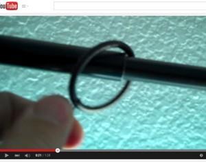 Ring catching on Telescoping Drapery Rod